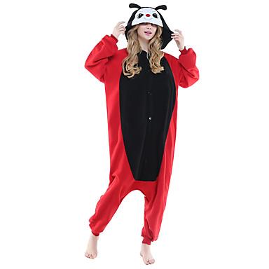 Pijamas Kigurumi Joaninha Pijamas Macacão Ocasiões Especiais Lã Polar Preto Cosplay Para Adulto Pijamas Animais desenho animado Dia das