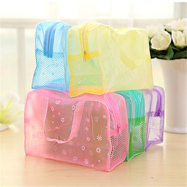 vandtæt transparent bad taske kosmetik taske bærbare rejse badeværelse efterbehandling