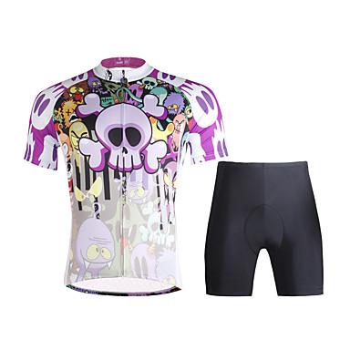 ILPALADINO Wielrenshirt met shorts Heren Korte mouw Fietsen Pakken Wielrenkleding Sneldrogend Ultra-Violetbestendig Ademend Lichtgewicht