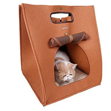 Katze Transportbehälter &Rucksäcke Haustiere Träger Tragbar Atmungsaktiv Solide Grau Braun