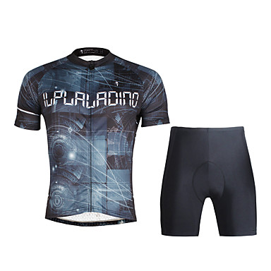 ILPALADINO Wielrenshirt met shorts Heren Korte mouw Fietsen Shirt Pakken Sneldrogend Ultra-Violetbestendig Ademend Zacht Compressie