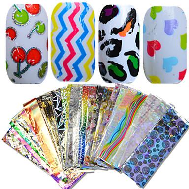 1 pcs Nail Smykker / Hel Negle Tipper Glitters / Frukt / Blomst Nail Art Design Smuk Daglig / Tegneserie / Glitter & Sparkle