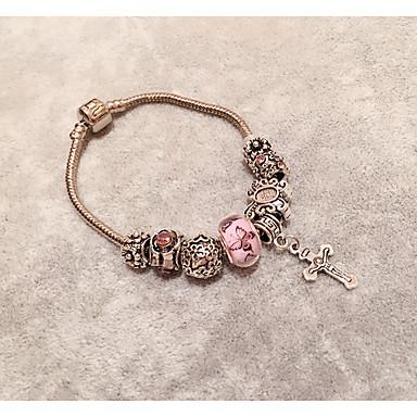 Damen Strang-Armbänder Modisch Krystall Kreisform Rosa Schmuck Für 1 Stück