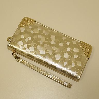 Damen Abendtasche Brieftasche PU Normal Gold Schwarz Silber
