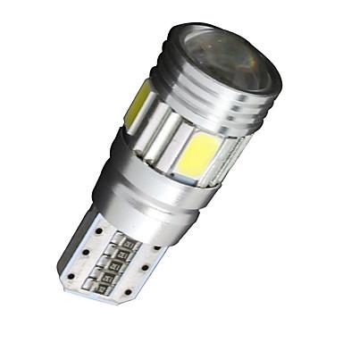 SO.K 10pcs T10 Araba Ampul 2W W SMD 5630 200lm lm 6 LED Dönüş Sinyali Işığı ForUniwersalny