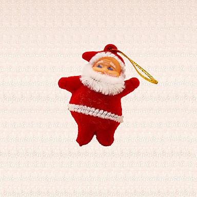6 Stk Mini Julemanden Vedhæng Juletræ Dekoration Vinter Juletræ Hængende Ornament
