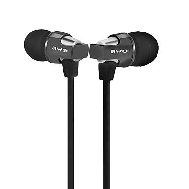 AWEI ES-850hi In het oor Bekabeld Hoofdtelefoons Aluminum Alloy Mobiele telefoon koptelefoon Met volumeregeling met microfoon koptelefoon