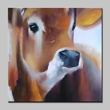met de hand geschilderd koe dier olieverfschilderijen op doek moderne kunst aan de muur foto met gestrekte frame klaar om op te hangen