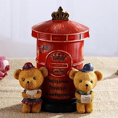 retro paar Bären Mailbox Sparschwein Dekoration Handwerk (zufällige Farben)