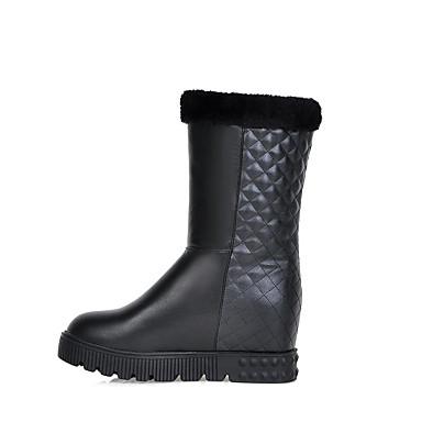 Støvler-PU-Fladsko-Dame-Sort / Hvid / Beige-Formelt / Hverdag-Flad hæl