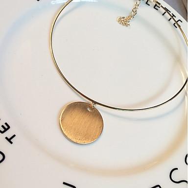 Dame Kort halskæde Halskædevedhæng Cirkelformet Legering Boheme Stil Personaliseret Gylden Smykker For Daglig Afslappet 1 Stk.