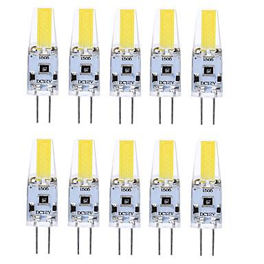 G4 LED-lamper med G-sokkel T 1 LED COB Vanntett Dekorativ Varm hvit Kjølig hvit Naturlig hvit 400-500lm 3000-6000K DC 12V