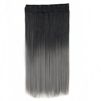 Com Presilha Sintético Extensões de cabelo 130 60 Alongamento