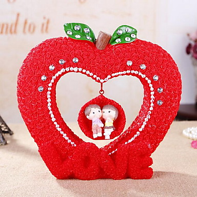 harpiks håndværk par svingende sparegris ornamenter valentine dag bryllup gaver