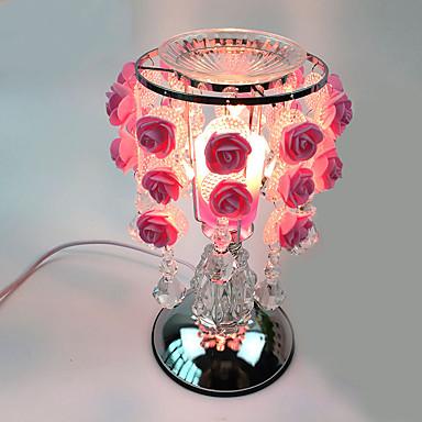 1pc rozen lamp zoete aing soort versierd gift bureaulamp aanraakgevoelige essentie olie lamp aangesloten op elektriciteit