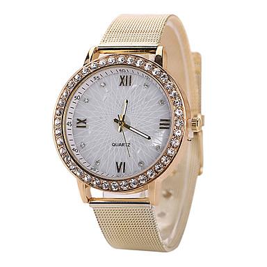 Damen Modeuhr Quartz Armbanduhren für den Alltag Imitation Diamant Edelstahl Band Silber Gold