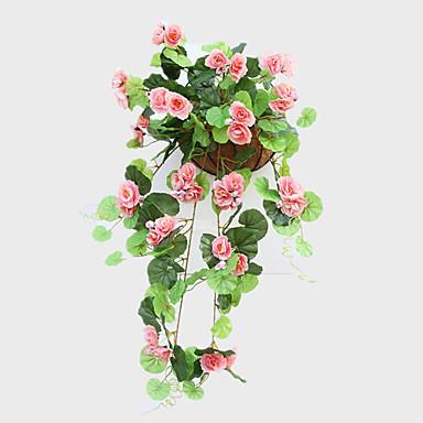 1 1 Ramo Seda / Plástico Rosas Guirlandas & Flor de Parede Flores artificiais 68CM