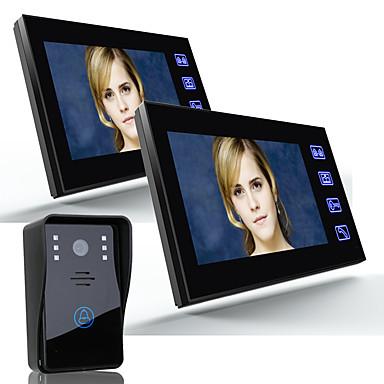 Ennio 7 video dør telefon intercom dørklokke 1000tvl utendørs sikkerhet CCTV kamera 2stk innendørs monitor