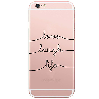 hoesje Voor Apple iPhone X iPhone 8 iPhone 6 iPhone 6 Plus Patroon Achterkant Woord / tekst Hard PC voor iPhone X iPhone 8 Plus iPhone 8
