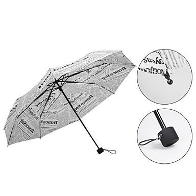 Sort / Hvid Sammenfoldet paraply Solparaply / Sunny og regnfulde / Regn Metal / tekstil / SiliconeKlapvogn / børn / Rejse / Lady / Herre