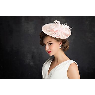 tulle flax pluma net fascinators headpiece clássico estilo feminino