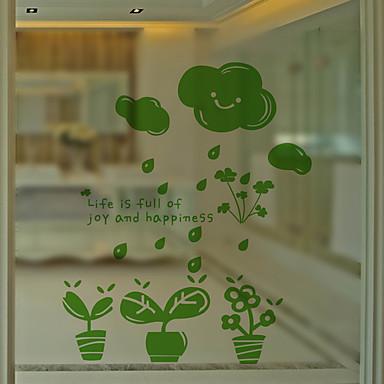 Art Decó Moderno Película para Ventana, PVC/Vinilo Material decoración de la ventana Comedor Dormitorio Oficina Sala de niños Salón Baño
