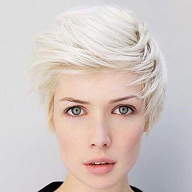 28cm lige hvide korte parykker til kvinder 2016 nye mode varmebestandige syntetiske parykker