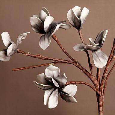 Kunstige blomster 1pcs Afdeling Europæisk Stil Magnolie Gulvblomst
