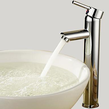 Μπάνιο βρύση νεροχύτη - Περιστρεφόμενες Χρώμιο Δοχείο Μία Οπή / Ενιαία Χειριστείτε μια τρύπα