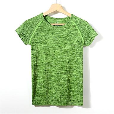 Dames Hardloopshirt Korte mouw Sneldrogend Ademend Compressie Zweetafvoerend T-shirt Sweatshirt Kleding Bovenlichaam voor Yoga