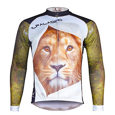 ILPALADINO Wielrenshirt Heren Lange mouw Fietsen Shirt Kleding Bovenlichaam Wielrenkleding Sneldrogend Ultra-Violetbestendig Ademend