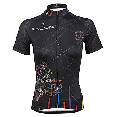 ILPALADINO Mulheres Manga Curta Camisa para Ciclismo Moto Camisa/Roupas Para Esporte, Secagem Rápida, Resistente Raios Ultravioleta,