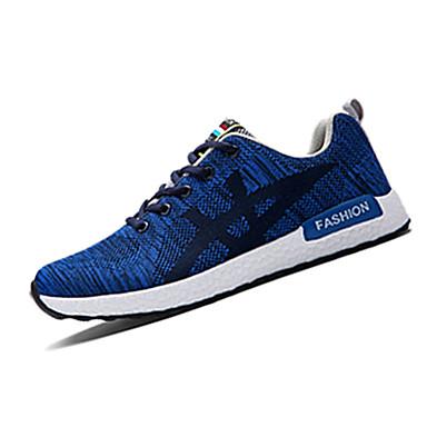 Sneakers-Stof-Komfort-Herre-Sort Blå Rød-Fritid-Flad hæl