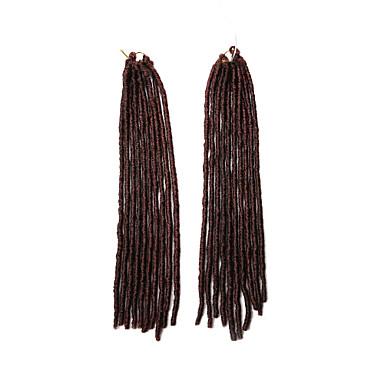 Fletning af hår Hæklet dreadlocks / Dreadlocks / Faux Locs 100% kanekalon hår / Kanelkalon 20 rødder / pakning Hårfletninger Dreadlock Extensions / Falske dreads / Falske hæklede dreads