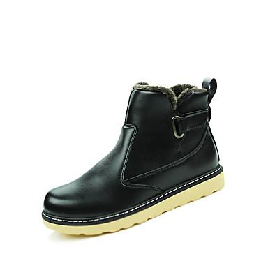 Herrer Støvler Modestøvler Snestøvler Komfort Militærstøvler Støvle PU Efterår Vinter Atletisk AfslappetModestøvler Snestøvler Komfort