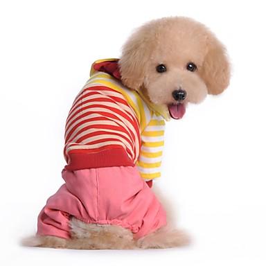 Hund Jumpsuits Hundetøj Afslappet/Hverdag Stribe Rød Blå Kostume For kæledyr