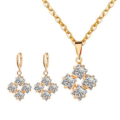Damen Halskette / Ohrringe Strass Aleación Personalisiert Modisch Hochzeit Party Ohrringe Halsketten Modeschmuck