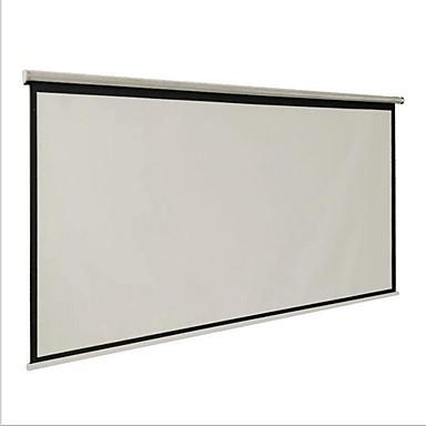 tela de projeção carta dotado de 100 polegadas 16 9 cortinas e mão-sala de conferências domésticos de plástico branco