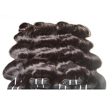 Ekte hår Remyfletninger av menneskehår Krop Bølge Brasiliansk hår 400 g 6 måneder