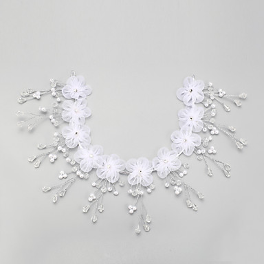Vrouwen Kristallen Imitatie Parel Chiffon Helm-Bruiloft Speciale gelegenheden Hoofdbanden 1 Stuk