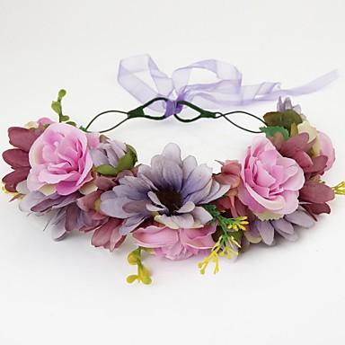 Mulheres Menina das Flores Tecido Capacete-Casamento Ocasião Especial Casual Ao ar Livre Grinaldas 1 Peça