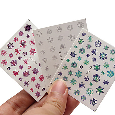 1pc Nail Art Sticker Watertransfer decals make-up Cosmetische Nail Art Design