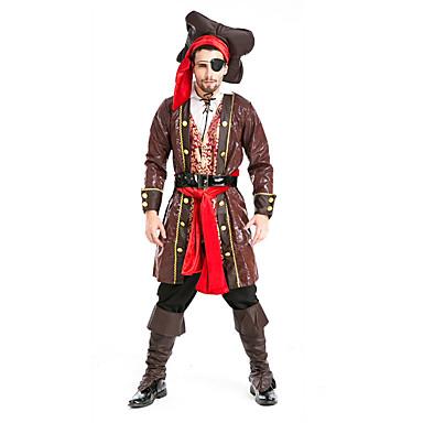 Cosplay Kostuums Feestkostuum Piraat Festival/Feestdagen Halloweenkostuums Effen Jas Top Broeken Meer Accessoires Halloween Mannelijk