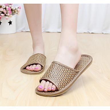 Masculino sapatos Sintético Verão Chanel Chinelos e flip-flops para Casual Marron
