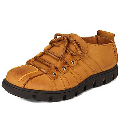 Hombre Zapatos Cuero de Napa Primavera Verano Otoño Invierno Confort Oxfords para Casual Oficina y carrera Fiesta y Noche Marrón Claro
