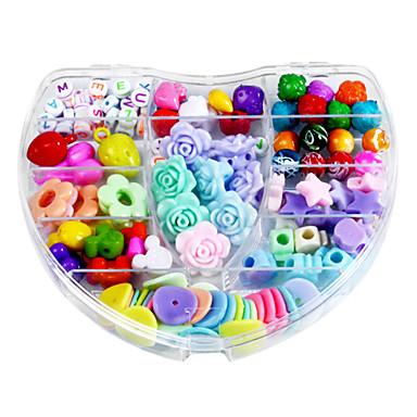 Srce i šarene DIY ručno beaded odijelo djeca obrazovne igračke ogrlicu poklon