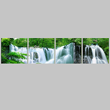 Abstract Traditional, Four Panels Canvas Horizontal Panoramic Print Wall Decor Home Decoration