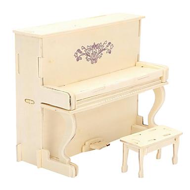 3D - Puzzle Holzpuzzle Holzmodelle Modellbausätze Piano 3D Simulation Heimwerken Holz Europäischer Stil Geschenk