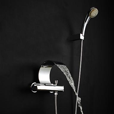 Duscharmaturen Badewannenarmaturen Waschbecken Wasserhahn - Moderne Art déco / Retro Modern Chrom Badewanne & Dusche Messingventil