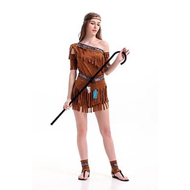Prinses Moana Cosplay Kostuums Feestkostuum Dames Halloween Festival / Feestdagen Halloweenkostuums Bruin Effen